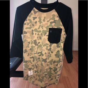 Other - Camo 3/4 Black Sleeve Shirt